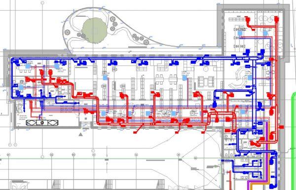 Plan de ventilation pour une bibliothèque