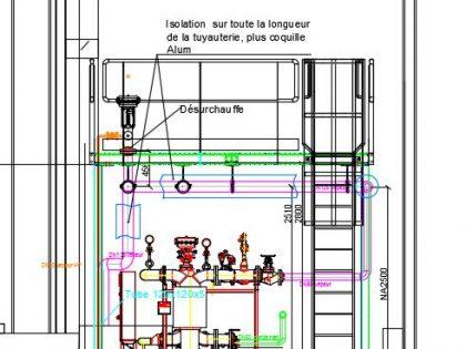 Echangeurs vapeur pour une industrie Liégeoise.