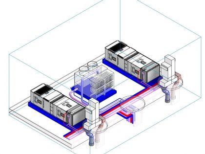 Groupes de ventilations et tour de refroidissement