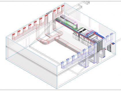 Réseau de ventilation salle de spectacle