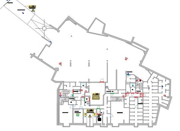 Plan de relevé pour un plan pompier