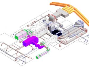 Modélisation 3D groupe de ventilation